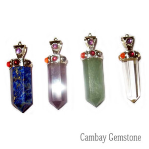 7Chakra Thick Point Pendant